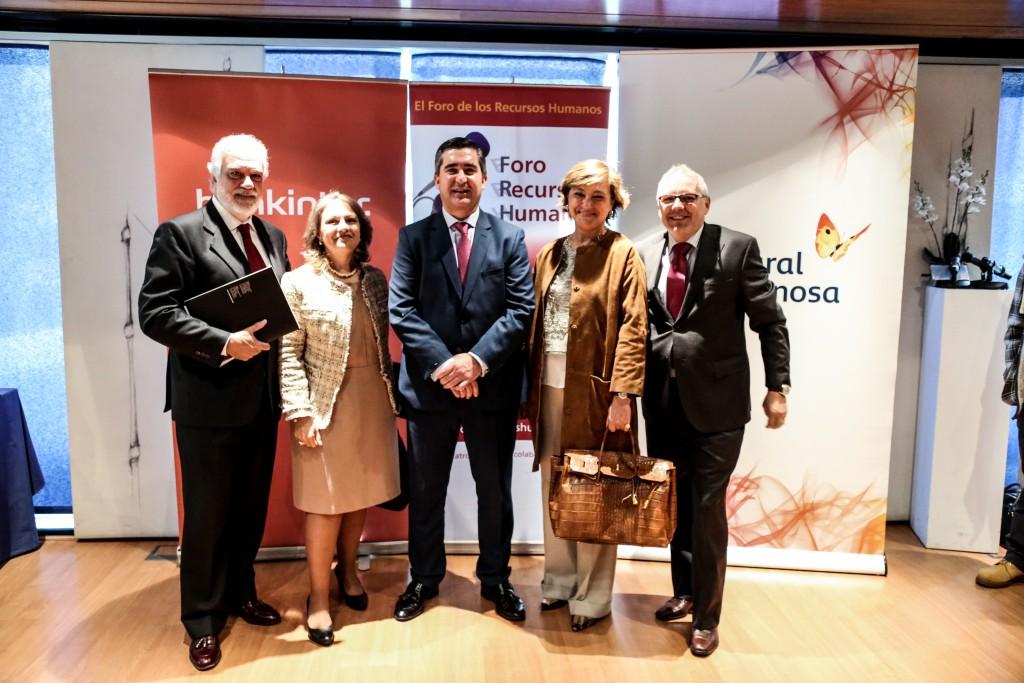 Francisco García Cabello, fundador del Foro de RRHH, con empresas asistentes