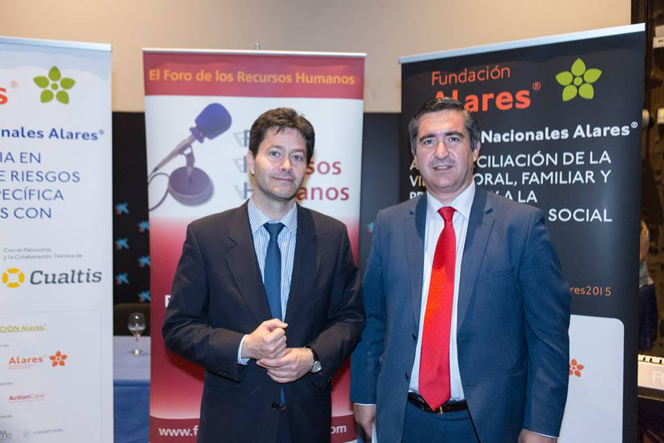 El director del Foro RRHH con Sixto Cantabrana, Subgerente de Cualtis