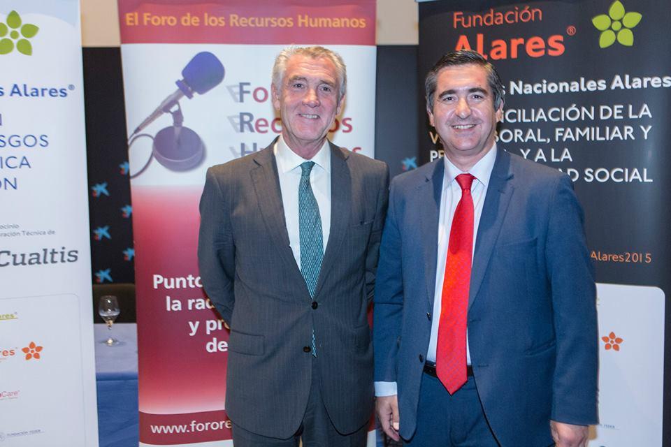 Francisco García Cabello con Evelio Acevedo, Director Gerente de la Fundación Museo Thyssen-Bornemisza