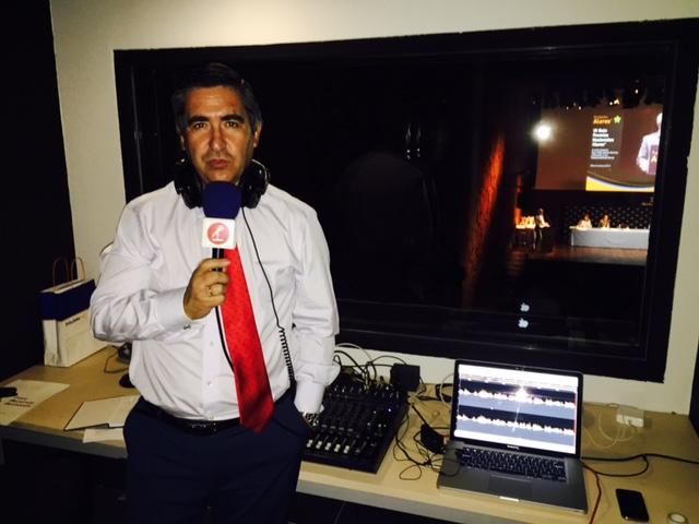 Francisco García Cabello retransmitiendo la Gala