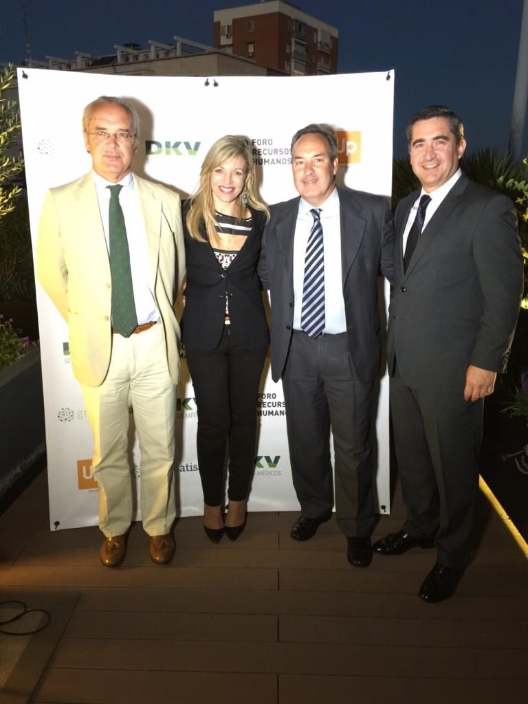 Enrique Quílez, de Sistema 4B, Sonia Martínez, Directora de Ventas de Cheque Gourmet, y Luis Díaz Magán, de Triodos Bank
