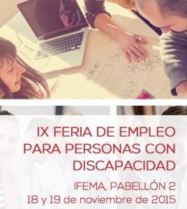 IX Feria de Empleo para Personas con Discapacidad