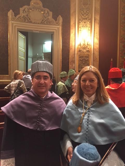 Francisco Garcia Cabello con Carmen Pérez de Armiñán, Decana de la Facultad de Ciencias de la Información (UCM)