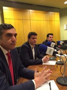 Alberto Arribas, Roberto Sánchez y Francisco Manzano