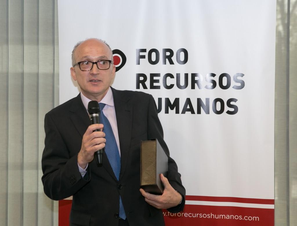Andreu Agustí también quiso compartir la distinción con su equipo de RRHH