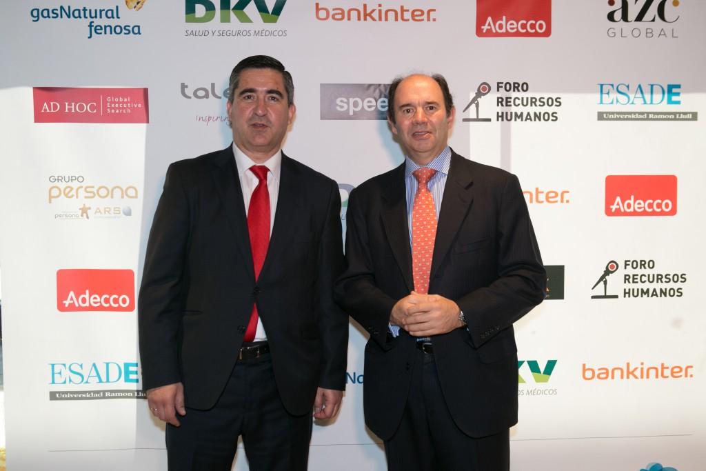 El director del Foro RRHH con Aurelio López-Barajas de la Puerta, Consejero Delegado en SUPER Cuidadores