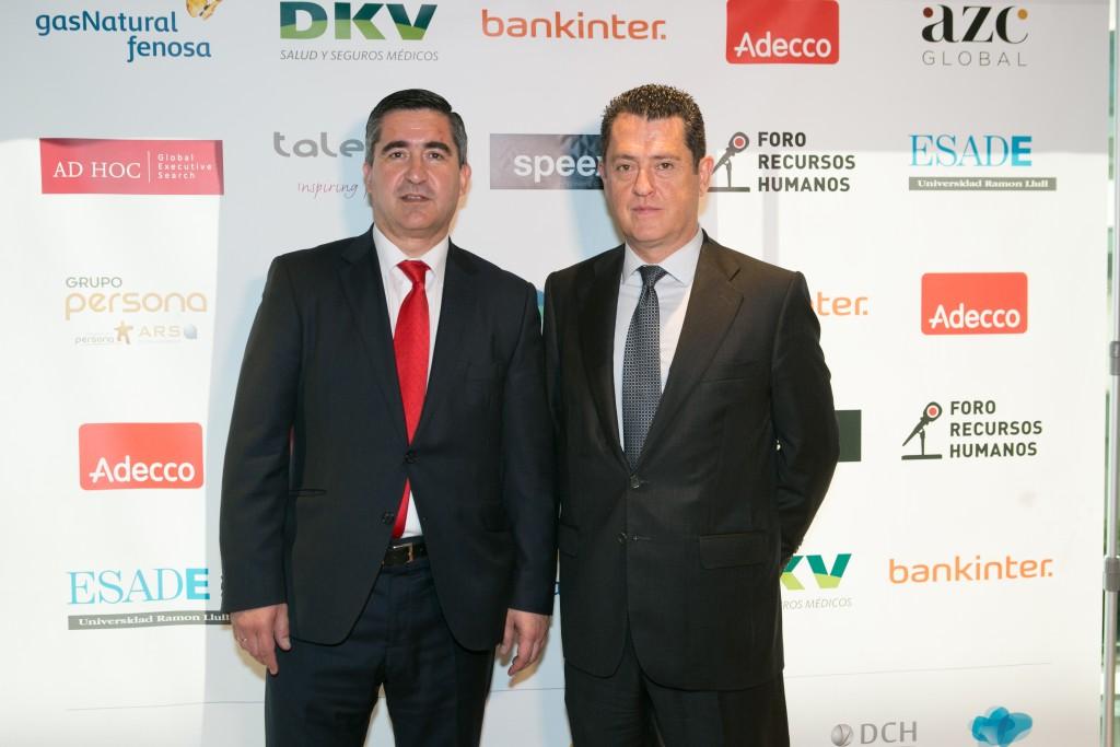 El fundador del Foro RRHH con Juan Carlos Pérez Espinosa, Presidente de DCH