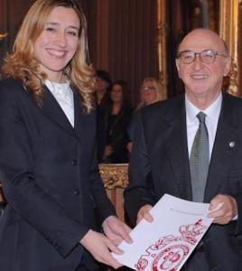 Graciela Llaneza, Secretaria General de EJE&CON, y Elías Fereres Castiel, Presidente de la RAI