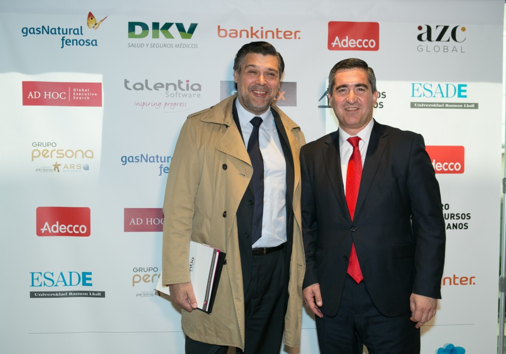 Javier Martín de la Fuente, CEO del Grupo Persona, con el fundador del Foro RRHH