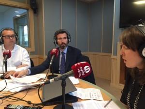 Sergio Fernández, Alberto Ruiz y Silvia de la Loma