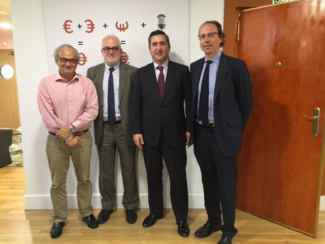 Juan Suanzes, Luis Miguel Fernández, Francisco García Cabello y Carlos de la Torre