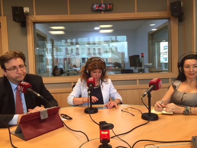 Antonio Burgueño, Ángela Redondo y Mirian Izquierdo