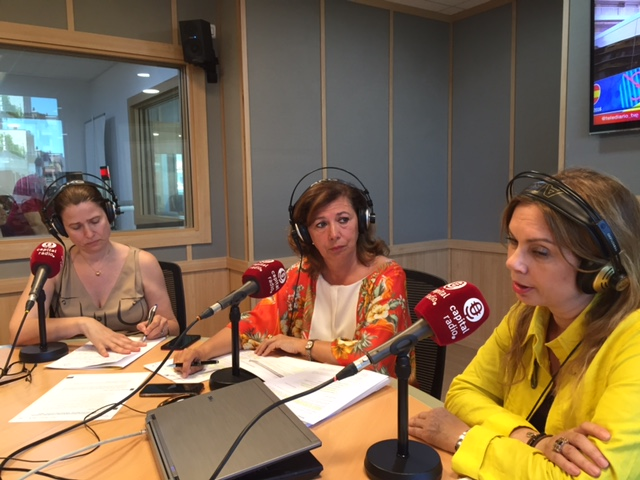Margarita Alonso Álvarez, Ángeles Alcázar y Susana Moreno