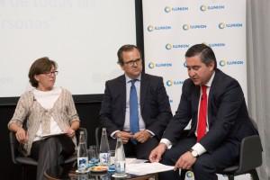 Teresa Blanco, Salvador Farrés y Francisco García Cabello