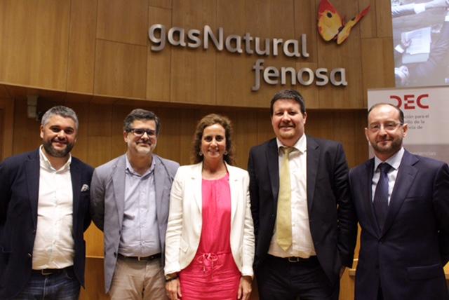 Alberto Cochón, David Barroeta, Cristina López Cabañas, Carlos Clúa y Jesús Araujo