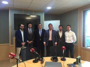 Javier Erdozain, José María Fernández de Navarrete, Francisco García Cabello, Alberto Blanco y Manuel Yáñez