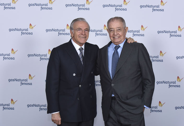Isidre Fainé y Salvador Gabarró