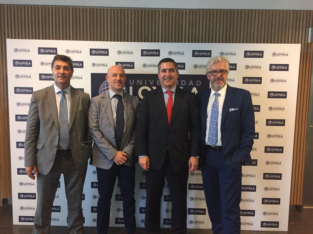 Luis Expósito, Lucio Fernández, Francisco García Cabello y Juan Manuel Rueda