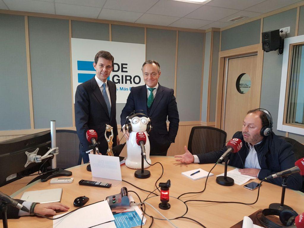 Andrés Fontenla, Carlos Recarte y Antonio Gómez de la Barcena