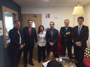 Antonio Gómez de la Barcena, Francisco García Cabello, Carmen Montes Gil, Roberto Menéndez, Carlos Recarte y Andrés Fontenla