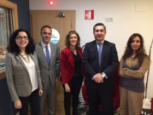 Elena Giménez, Antonio Núñez, María Sáchez-Arjona, Francisco García Cabello y Yojana Pavón