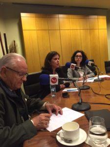 José Ramón Pin, Carolina Ubis y Elena Giménez