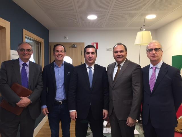 Federico Montilla, Juan Pablo Jiménez, Francisco García Cabello, Jorge Urribarri y Miguel Ángel Vidal
