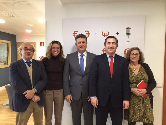 Juan Suanzes, Ainhoa Herrero, Javier Vega, Francisco García Cabello y Marta García