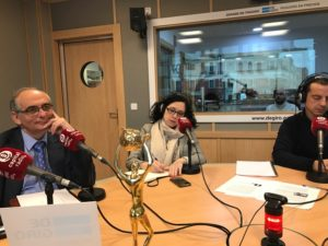 Federico Montilla, Elena Giménez y Roberto Menéndez