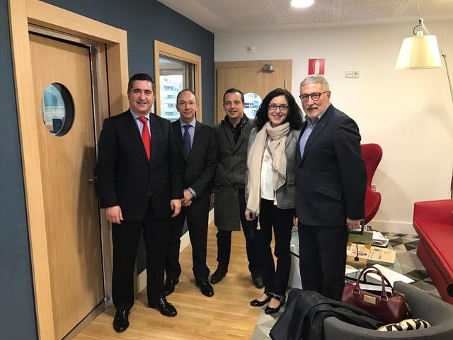 Francisco García Cabello, Alberto Ogando, Roberto Menéndez, Elena Giménez y Joaquín Rubio