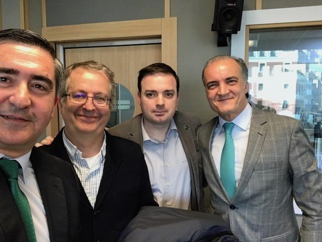 Francisco García Cabello, Javier Fernández Aguado, David Vivancos y Javier Kühnel