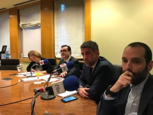 María Jesús Biechy, David Martín, Ángel Javier Vicente y Alberto Gavilán