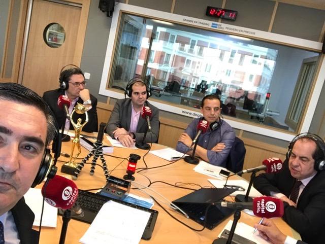 Francisco García Cabello, Pedro García Cano, Javier Sánchez, Roberto Menéndez y Juan Carlos Cubeiro