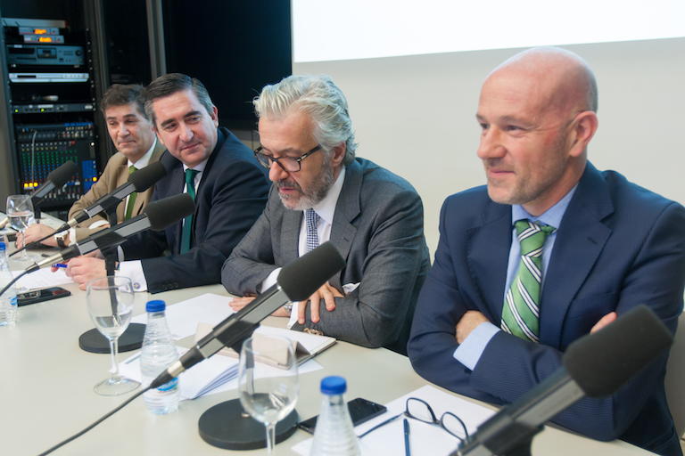 Luis Expósito, Francisco García Cabello, Juan Manuel Rueda y Lucio Fernández