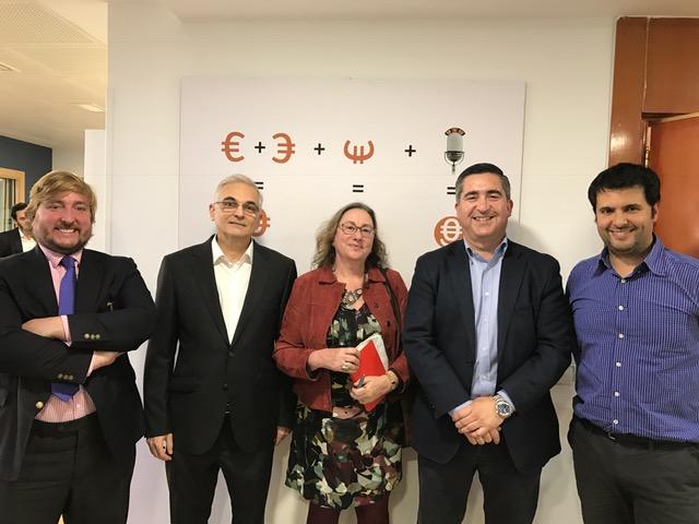 Aurelio Verde, Gabriel Míguez, Marta García, Francisco García Cabello y David Fermosel