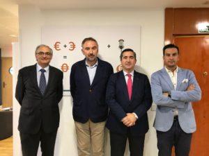 Federico Montilla, Moisés Arrimada, Francisco García Cabello y Juan Gracia