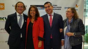 Jaime Peiró, Carmen Salamero, Francisco García Cabello y Marta García, socia del Grupo Persona