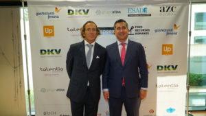 Jaime Peiró, de la Fundación Carmen Pardo, con el Director del Foro RRHH