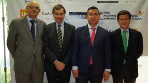 Jorge Cagigas, Presidente de Fundipe, José Maria de la Villa, Francisco García Cabello yAntonio Peñalver, de People First Consulting