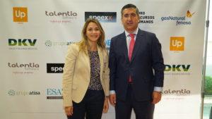 Maria Eugenia Castro, Directora de Operaciones Eurofirms, junto al Director del Foro RRHH