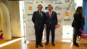 Pedro García Cano, Country Manager de TMP Worldwide Spain con el Fundador del Foro RRHH