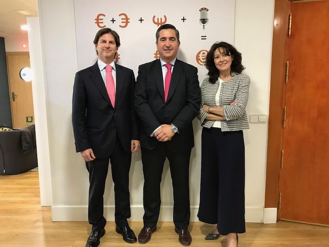 Víctor Carulla, Francisco García Cabello y Beatriz García-Quismondo