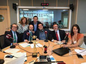 Ángeles Alcázar, Francisco García Cabello, Salvador Farrés, Antonio Casado, Francisco de la Calle, Javier Zubicoa y Elena Cascante