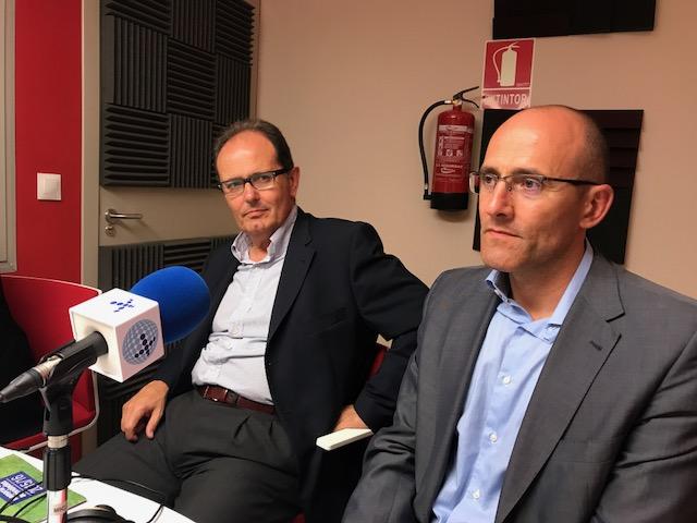 Carlos Cid, Director de RRHH en Euroforum, y Lorenzo Rivares, Director de RRHH en Eulen