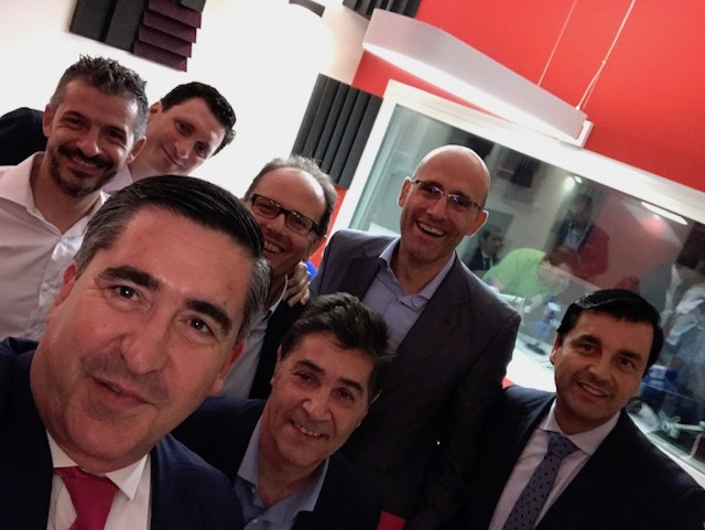 David Jiménez, Francisco Marín, Carlos Cid, Lorenzo Rivares, Francisco García Cabello, Luis Expósito y José Pérez Fresquet