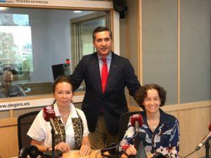 Francisco García Cabello, Lourdes Fernández de la Riva y Raquel Gil Fombedilla