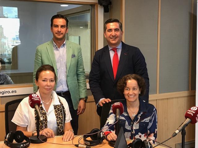 Juan Gracia, Francisco García Cabello, Lourdes Fernández de la Riva y Raquel Gil Fombedilla