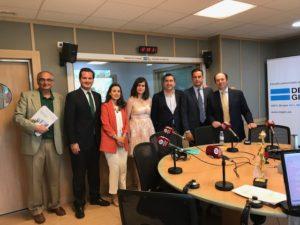Federico Montilla, Óscar Miralles, Sara Al Khalaf, Patricia Ruiz, Francisco García Cabello, Juan Gracia y Aurelio López-Barajas