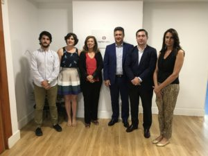 Javier Sánchez, Teresa Domínguez, Ángeles Alcázar, Javier Vega, Francisco García Cabello y Elena Cascante