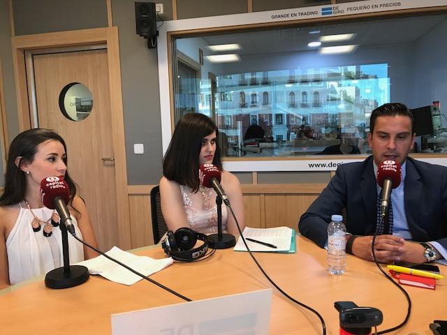 Sara Alcalá, Patricia Ruiz y Juan Gracia